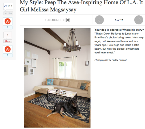 Home sweet home on one of my all time favorite sites, Refinery 29!  http://www.refinery29.com/melissa-magsaysay-home-photos  Mxx