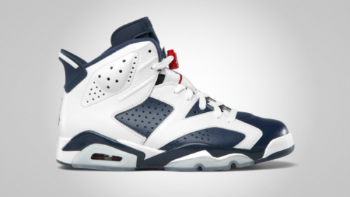 Air Jordan VI - Olympic a look at the official images for the upcoming Olympic VIs.  Blue/White leather uppers with Varsity Red accents on an Icy sole.  really clean look. click here for more pics, and grab yours July 7th Related articles Video: Air Jordan VI (6) Olympic 2012 (sneakerfiles.com)