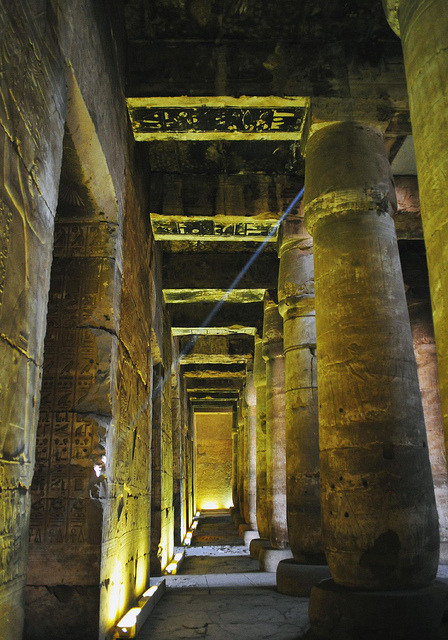 Hypostyle Hall at Abydos by DSLEWIS on Flickr.