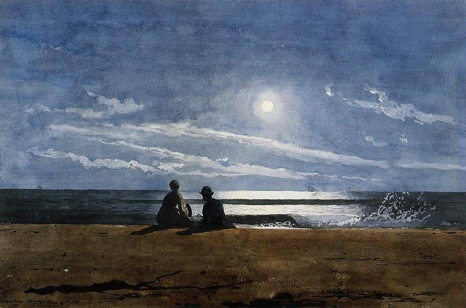 poboh:  Moonlight, Winslow Homer. American (1836 - 1910)