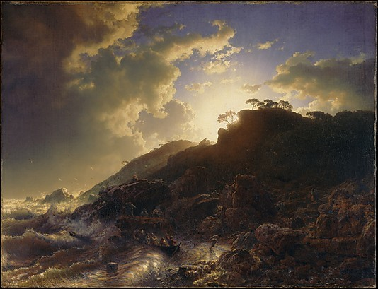Andreas Achenbach 'Sunset After a Storm On the Coast of Sicily' (1853),  83.2 cm x 107.3 cm, Oil on canvas