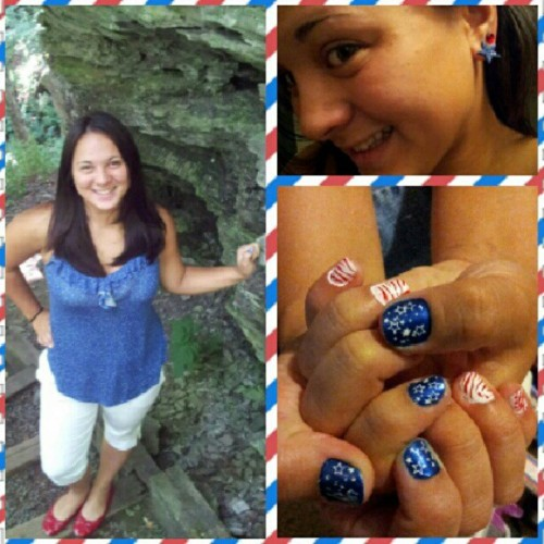 I love planning patriotic outfits. I did my nails myself too :) #julyphotoaday #dayfour (Taken with Instagram)