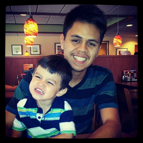 Too cute yo'(: #babyboy #babybrother @cool_bert  (Taken with Instagram)