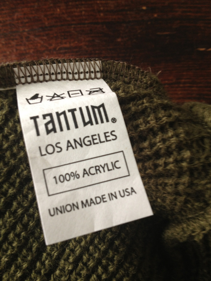 Label….guerrilla warfare beanie.