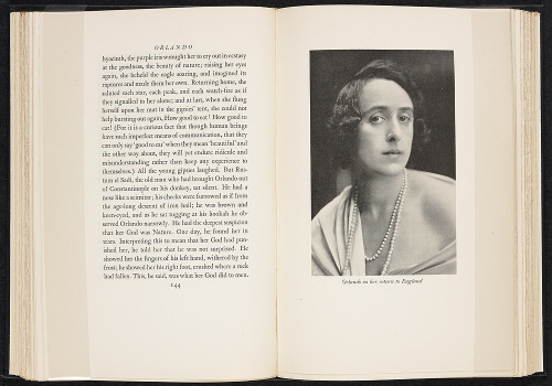Orlando, Virginia Woolf (in the photo: Vita Sackville-West)