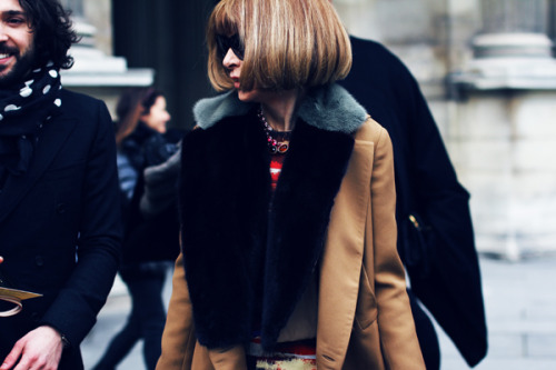 Anna Wintour at Louis Vuitton Photography by Lewis Mirrett