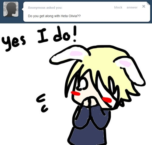 askhetaoliver:  b-but she haven't update her askblog ;n; bunny ears : 3 asks left   i-i heard my name s-so i came to investigate the s-scene