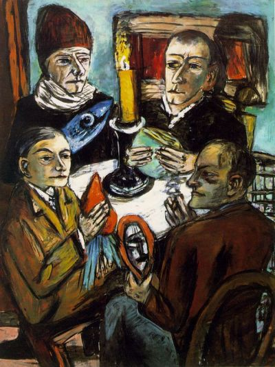 peira:  Max Beckmann:  Artists with Vegetables (1943) via Artchive