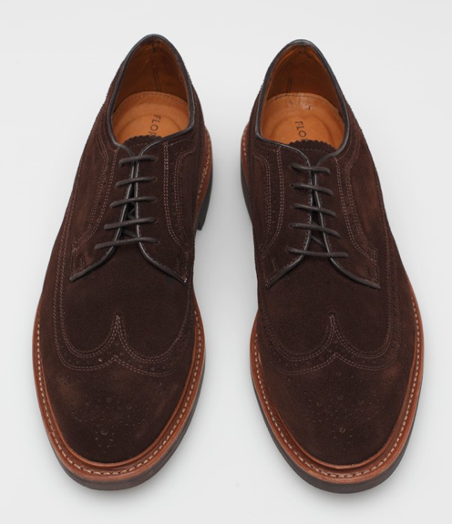 "It's on sale: Florsheim chocolate suede longwings — Need Supply is having an extra 20% off their sale items with code FIREWORKS, bringing these Florsheim Haviland shoes to $103.99. These are part of the better-quality ""Limited"" line from Florsheim, featuring a Goodyear welted sole. Sale ends Thursday at midnight."
