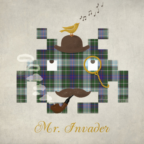 Mr. Invader - by Terry Fan Prints available at Society6 Flickr || Redbubble