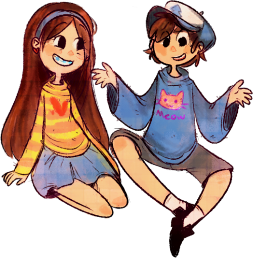 muffinsart:  what if mabel knitted a sweater for dipper oMG