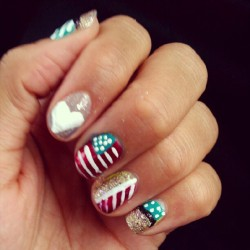 Happy 4th of July…been working on my nail skills (Taken with Instagram)