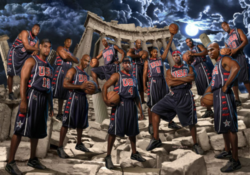 nbaoffseason:  Happy 4th of July from the 2004 USA Olympic Basketball Team