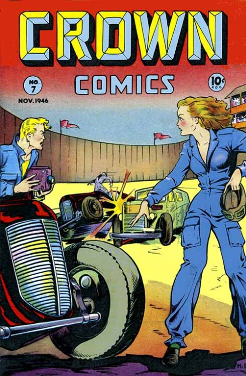 Crown Comics, November 1946Artist: Matt Baker Matt Baker was one of the first African-American comic book artists. See a collection of his comic book covers here. Source: American Art Archives