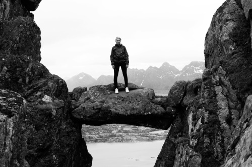 "mountain hike to ""the devils gate"" near my home in lofoten with one of my best friends. © evelyn andora pecori"