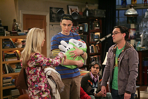 Penny: We're home. Leonard: It's ten o'clock, where have you been? Sheldon: We stayed for the California Adventure water show. It was pure Disney magic. Leonard: I was going to see that with him. Penny: How was I supposed to know that? Sheldon: It's all right. I'll see it again with you. Leonard: And I have food here. You said you were going to call. Penny: I know, I know. Sheldon: I can still eat. Penny: No, you already threw up once. Go put on your PJs and brush your teeth. Sheldon: Okay, but just don't fight Leonard: We're not fighting. Penny: Just go. Leonard: Aren't you going to thank Penny for taking you to Disneyland? Sheldon: Thank you, Penny.