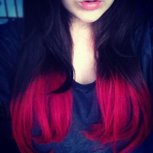 livelikeits-thelastday:  My hair is still as pink as ever…kind of getting bored of it now :S (Taken with Instagram)