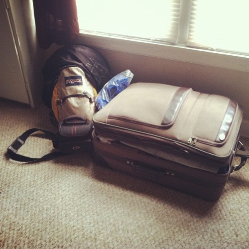 I'm pretty much all packed for Czech! Can I leave now?? (Taken with Instagram)