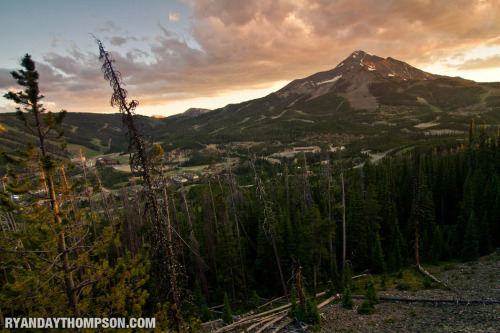 Sunset over Lone Mountain.  Photos © Ryan Day Thompson, 2012.