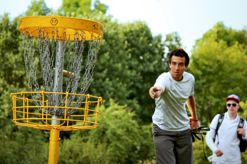 Paul McBeth putting at Stockholm Open R1.
