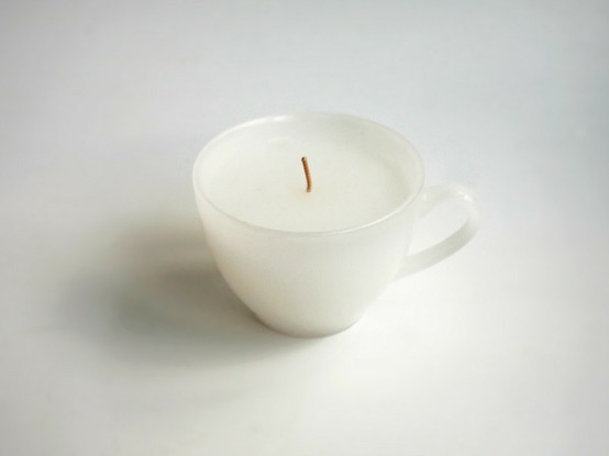 fatal-e:  teacup candle