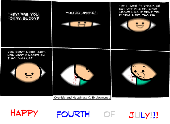 Firework, Cyanide & Happiness, #2849, #comic, #humor