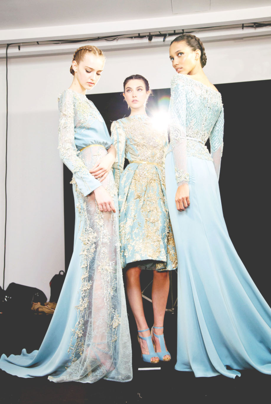 backstage at elie saab haute couture, fall 2012