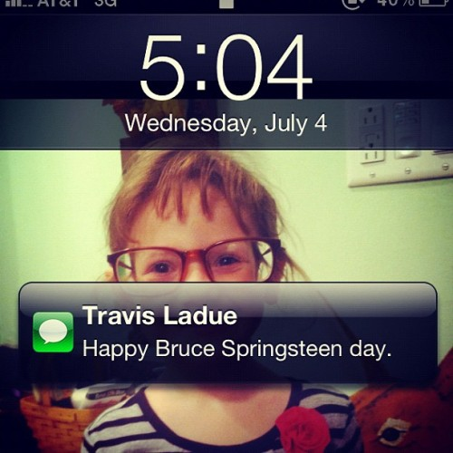 @whatitladue just gets me. Happy Bruce Springsteen day, y'all! ❤🇺🇸❤🇺🇸❤🇺🇸❤🇺🇸❤ (Taken with Instagram)