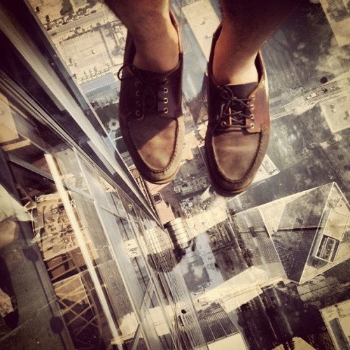 I just died. 😳 (Taken with Instagram at Skydeck Chicago) follow me on Instagram @nicoalan :]