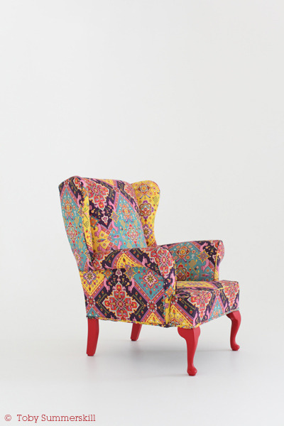 Collaboration between upholsterer Red Legs Upholstery & illustrator Serge Seidlitz