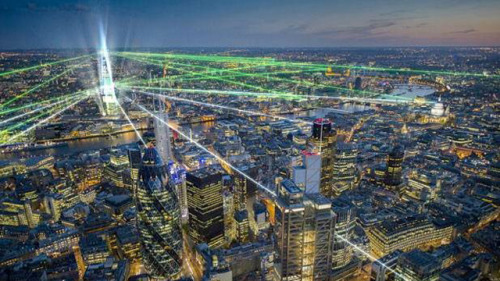 ilazer:  A sneak preview to what The Shard will look like in a lazer spectacular to annonce the opening of Europe's tallest tower. Let's see what tomorrow holds.