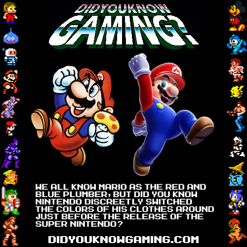 didyouknowgaming:  Mario. Submitted by retrolinkx.