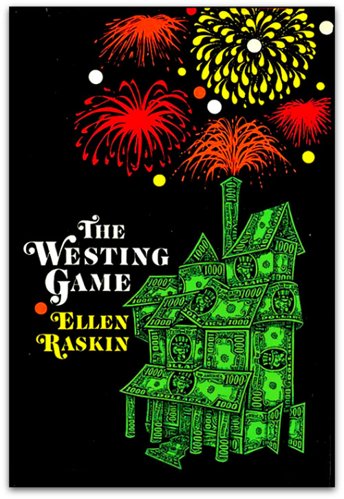 "July 4th always reminds me of Ellen Raskin's ""The Westing Game"". Great book by a great artist."