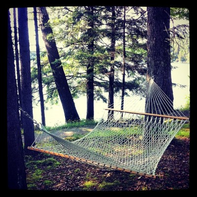 Hammock by the lake (Taken with Instagram)