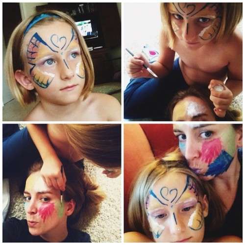 dearpiper:  I bet you are jealous that I have a personal makeup artist? (Taken with Instagram)