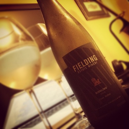 Fielding Estate Winery Riesling 2010 (Canada) #win w/ @starlexis #niagara #peninsula #fielding #estate #winery #canada #white #wine #riesling #2010 #VQA (Taken with Instagram)