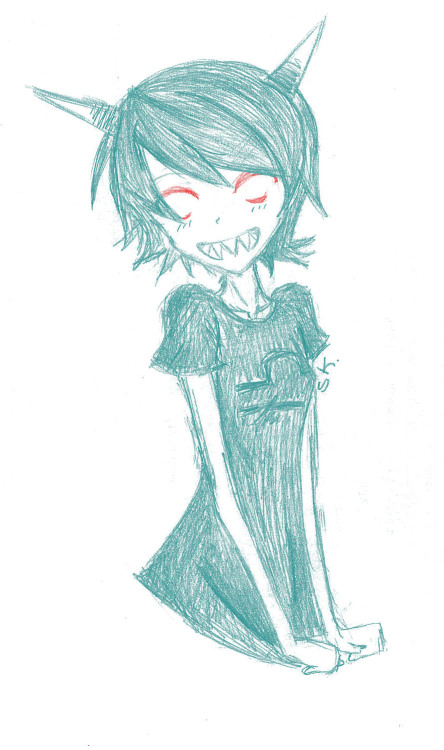 nomore-envelopes:  Here have this happy Terezi….. And her poorly drawn arms   YES GOOD ENVELOPES, YOU ARE ON THE NICE LIST NOW