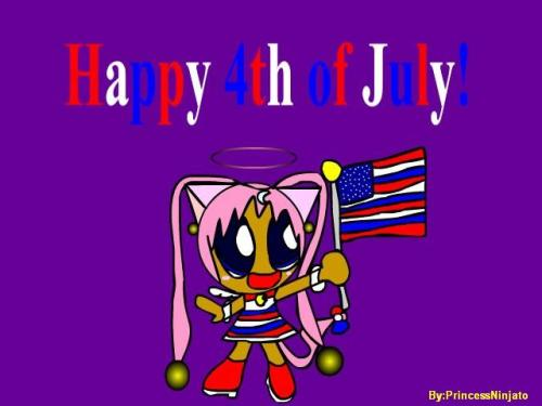 Because nothing says 'Happy 4th of July!' like a Sailor Moon Power puff Girl! Also I don't think that's how the flag design works.  We have a spy among us. All real Americans have the flag's design pounded into them forcibly right out of the womb.