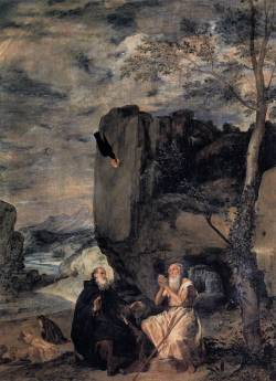 unclegrimace:  St. Anthony the Abbot and St. Paul the First Hermit Artist: Diego Velazquez