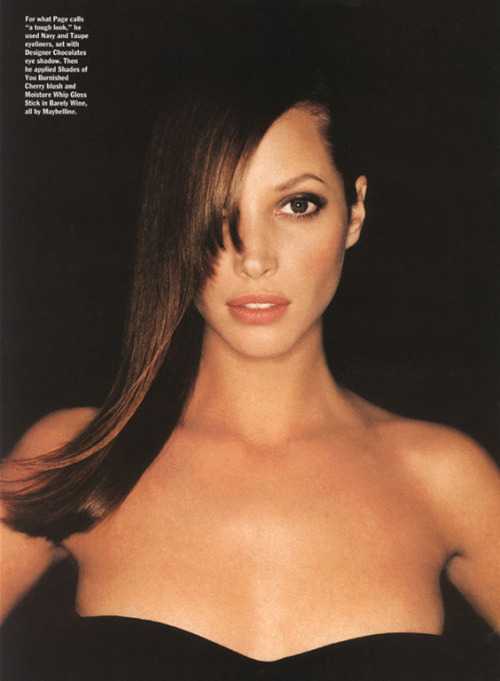 "christyturlingtonfan:  Allure January 1995""The Drugstore Beauty""Photographer: Juergen Teller"