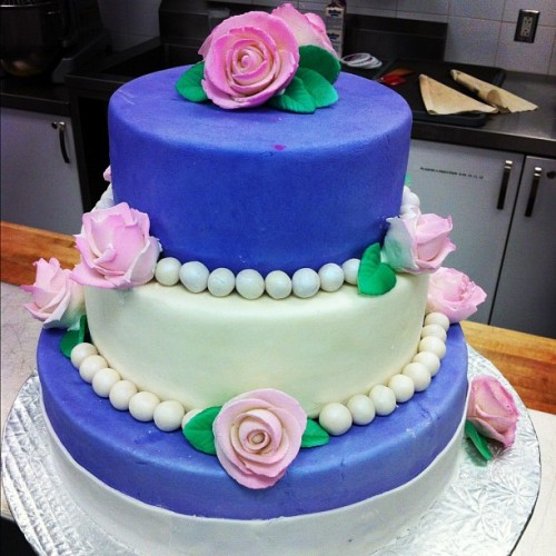 Dream wedding cake I made today <3 (Taken with Instagram)