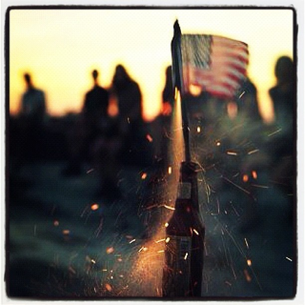 elizabethscrawford:  #summer #nyc #park #july4th #fireworks #2012  (Taken with Instagram at Macy's Fireworks Party on the Hudson)