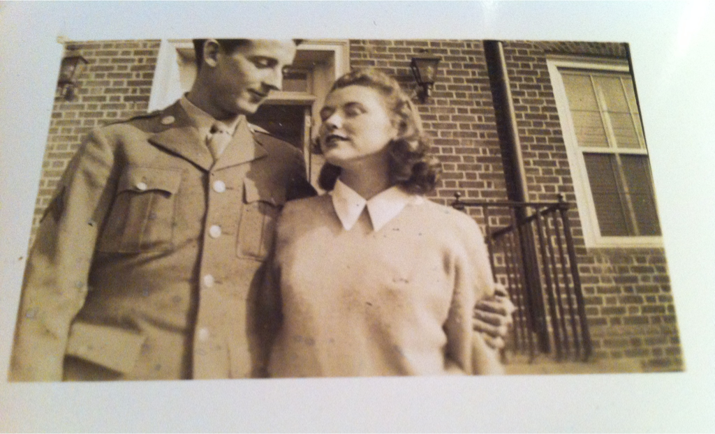 This was my grandmothers fiancé, had the war not taken him he could have been my grandfather. The tragedy for me is more than just the look these two share, the look of a true and desperate love. Its that I never knew his name and now there is no one left to remember it. Happy Independence Day. Thank you to all those men, past preset and future who gave their tomorrows for our today's. -Bobby