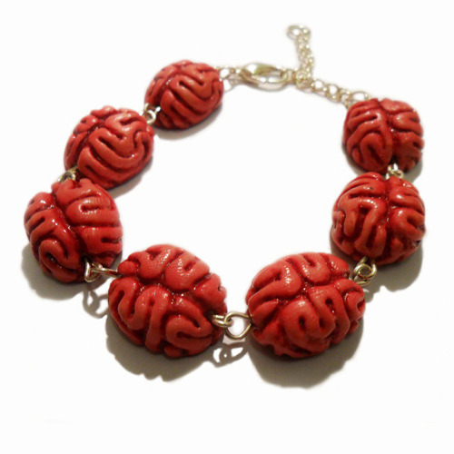 Zombie Brain Bracelet Available from Funky Jewellery UK