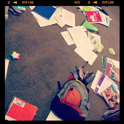 Must be writing school reports #Zzzz #LifeOfATeacher (Taken with Instagram)