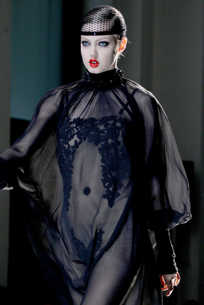 suicideblonde:  Lindsey Wixson at Jean Paul Gaultier Couture Fall/Winter 2012