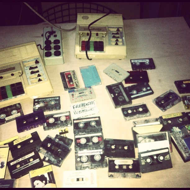 Tape on top of tapes  (Taken with Instagram)