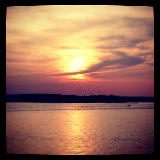 Bayside #sunset #beach  (Taken with Instagram)