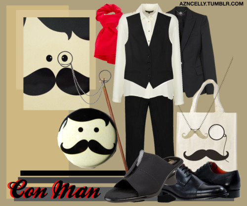 cellyarts:  Con Man by azncelly featuring a silk blouse