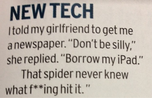 iPad + spider = iSquish?